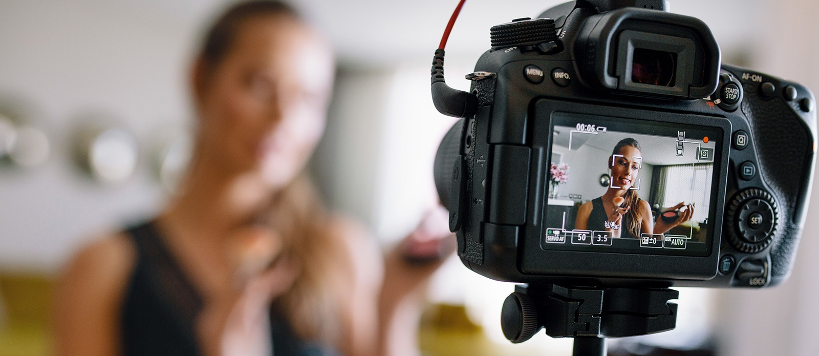 Woman Filming a Microlearning Tutorial - Content Marketing Strategy for College Recruitment